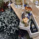 友人の開店祝いに、シャンパンとお花のギフトボックスを贈ってみた