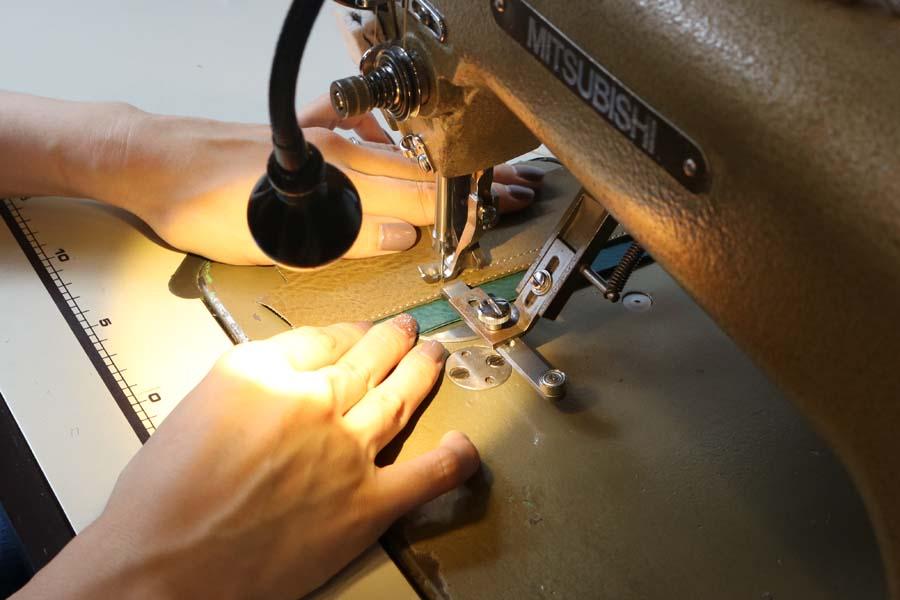 ミシンでの縫製