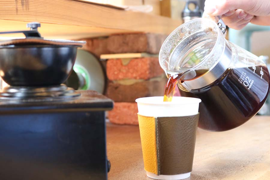 コーヒースリーブの制作体験