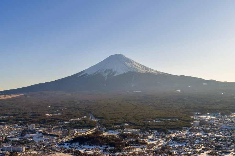 末広がりの富士山