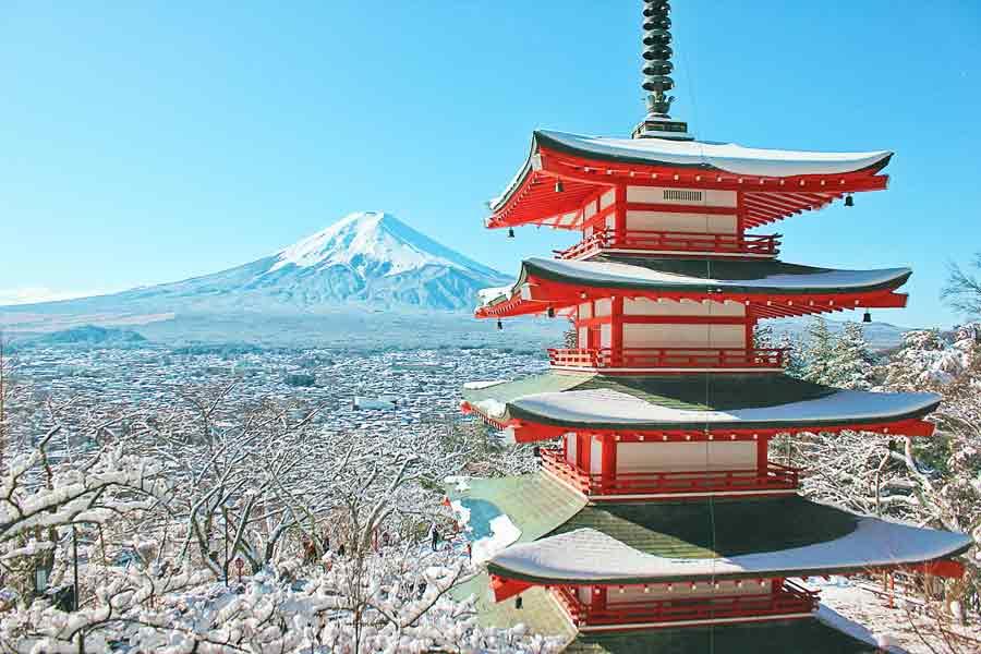 富士山モチーフの贈り物