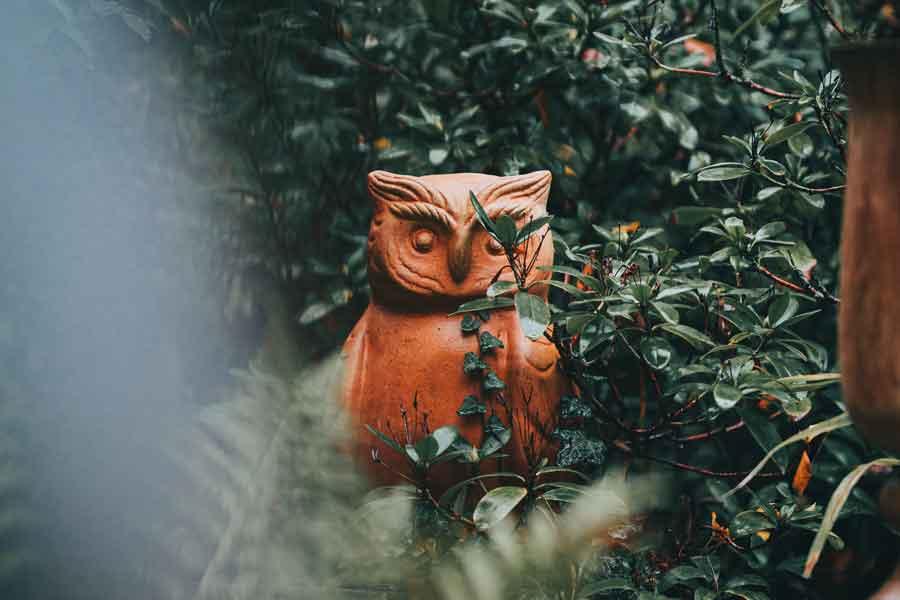 木彫りのミミズク