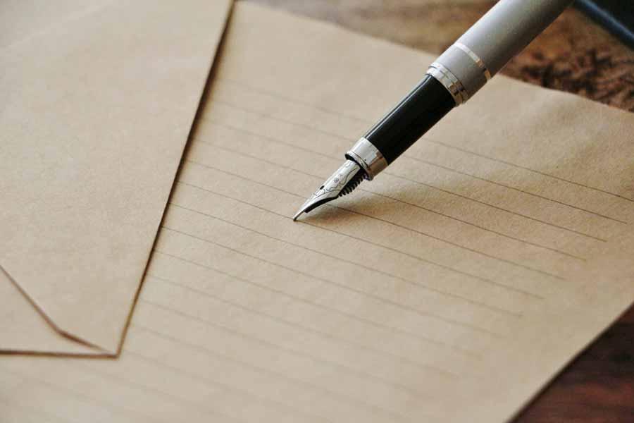 手紙でのお礼