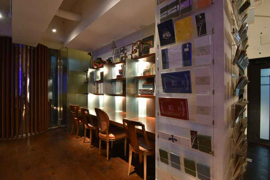 書斎館のカフェエリア