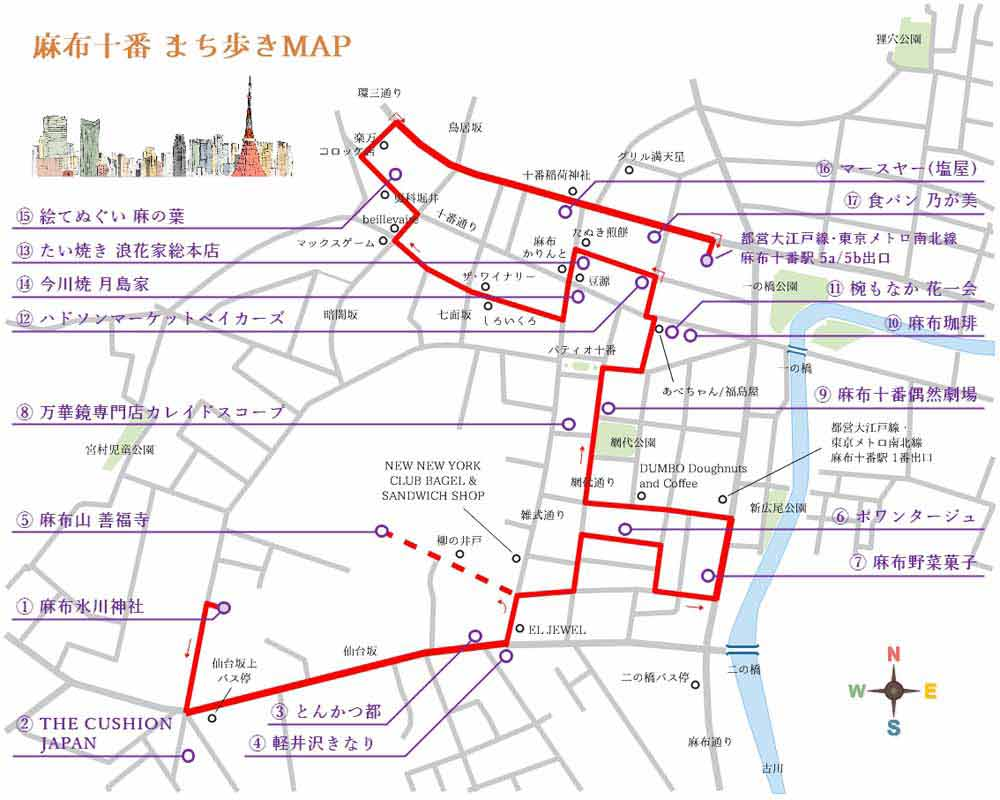麻布十番まち歩きマップ