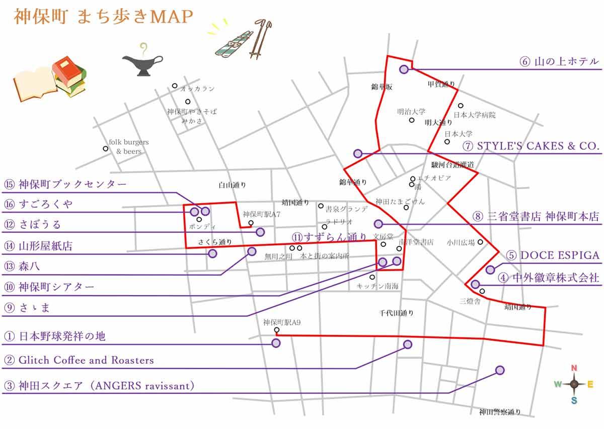 神田神保町まち歩きマップ